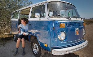 High School Senior Next to VolksWagon Bus