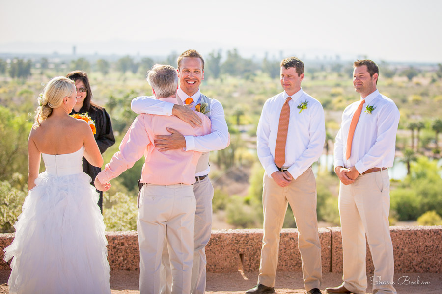 Papago Park Wedding | Father Hands Over Bride | Phoenix, AZ