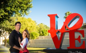Engagement Couple at Scottsdale Love Sign